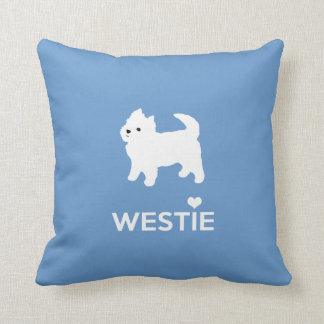 I Love Westie Dogs - West Highland White Terrier Pillow