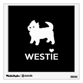 I Love Westie Dogs - West Highland White Terrier Wall Sticker