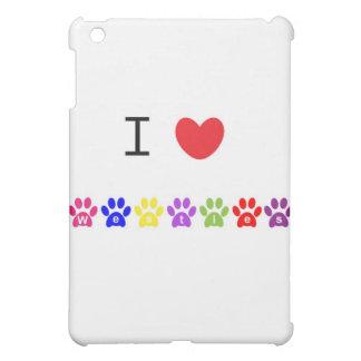 I love westies heart dog pawprints ipad case