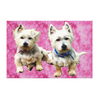I Love Westies Wall Canvas. Canvas Print