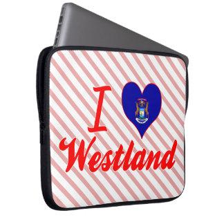 I Love Westland Michigan Computer Sleeve