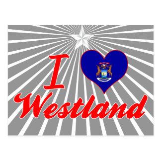 I Love Westland, Michigan Postcard