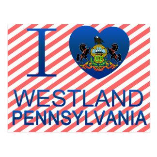 I Love Westland, PA Postcard
