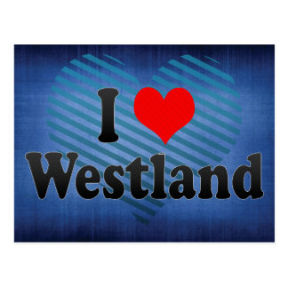 I Love Westland, United States Postcard