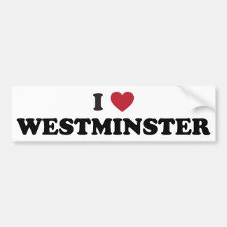 I Love Westminster Colorado Bumper Sticker