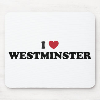I Love Westminster Colorado Mouse Pad