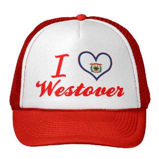 I Love Westover, West Virginia Mesh Hats