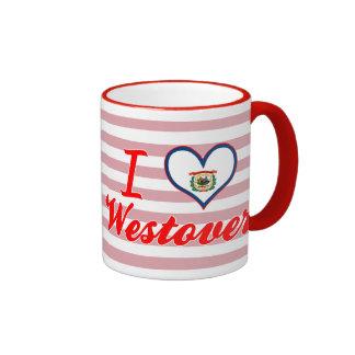 I Love Westover, West Virginia Mugs