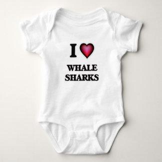 I Love Whale Sharks Baby Bodysuit