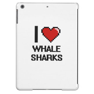 I love Whale Sharks Digital Design iPad Air Cover