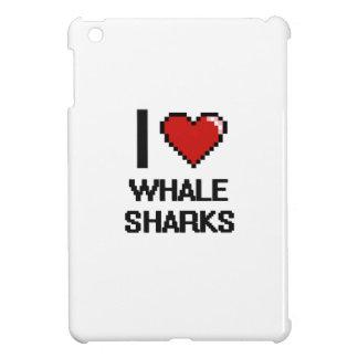 I love Whale Sharks Digital Design iPad Mini Cover
