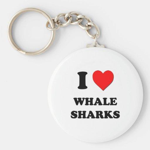 I Love Whale Sharks Key Chains