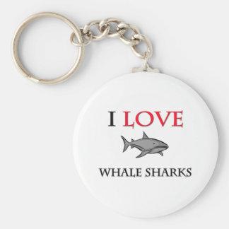 I Love Whale Sharks Keychain