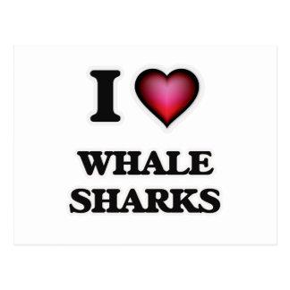 I Love Whale Sharks Postcard