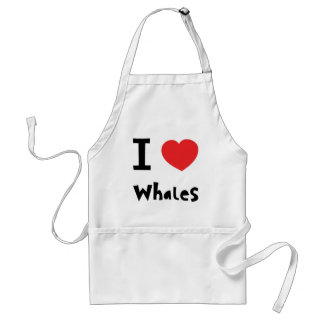 I love whales adult apron