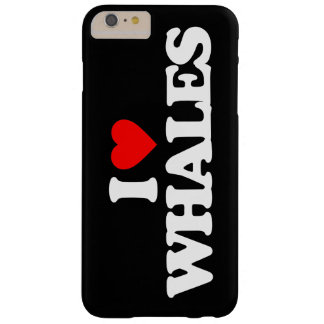 I LOVE WHALES BARELY THERE iPhone 6 PLUS CASE