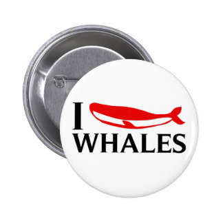 I Love Whales Pins