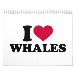 I love Whales Calendar