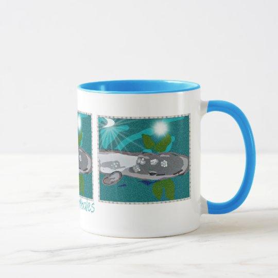 I Love whales Gray Whale Art Decorative mug