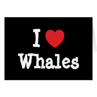 I love Whales heart custom personalized Greeting Card