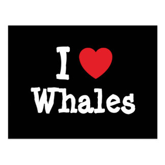 I love Whales heart custom personalized Postcard
