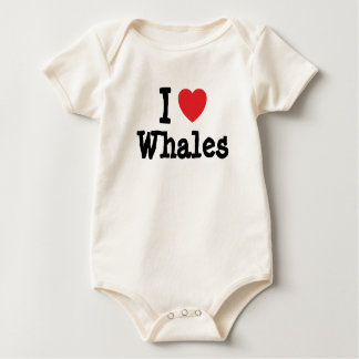 I love Whales heart custom personalized Bodysuits