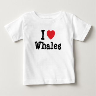 I love Whales heart custom personalized Tee Shirts