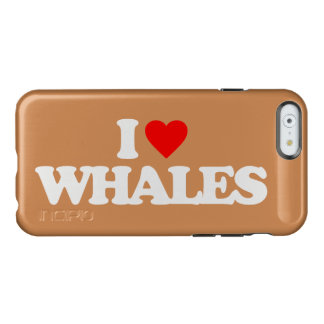 I LOVE WHALES INCIPIO FEATHER SHINE iPhone 6 CASE