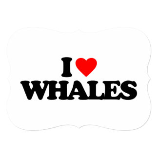 I LOVE WHALES PERSONALIZED ANNOUNCEMENT