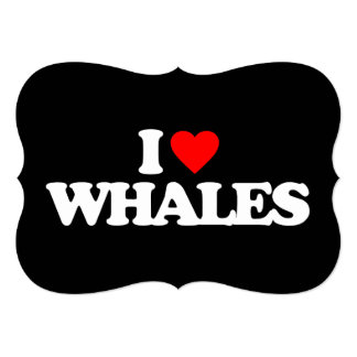 I LOVE WHALES PERSONALIZED INVITATIONS