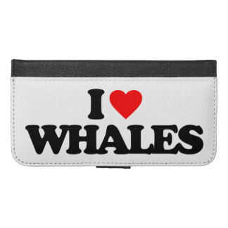 I LOVE WHALES iPhone 6/6S PLUS WALLET CASE