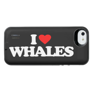 I LOVE WHALES iPhone SE/5/5s BATTERY CASE