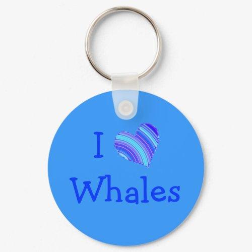 I Love Whales keychain