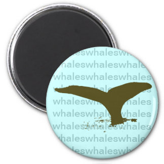 I love Whales 2 Inch Round Magnet