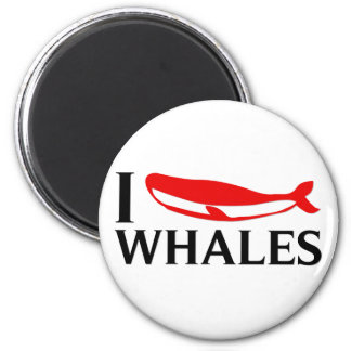 I Love Whales Fridge Magnets
