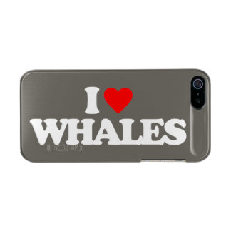I LOVE WHALES METALLIC iPhone SE/5/5s CASE