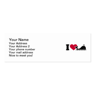 I love Whales Mini Business Card