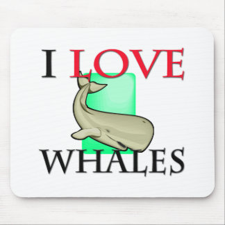 I Love Whales Mouse Pads