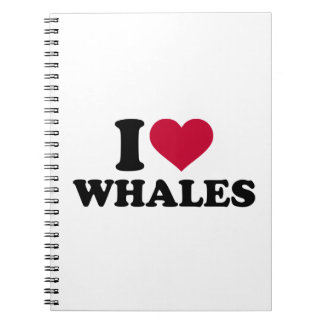 I love Whales Notebooks