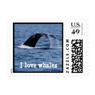 I Love Whales Postage