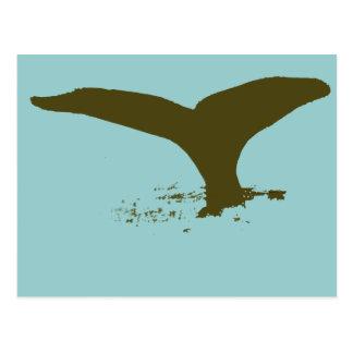 I love Whales Postcard