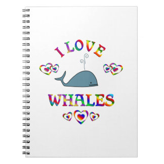 I Love Whales Spiral Notebook