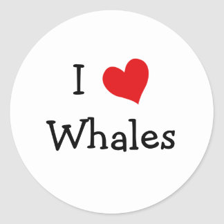 I Love Whales Stickers