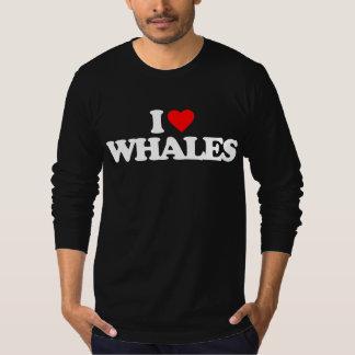 I LOVE WHALES T-Shirt