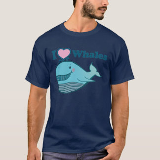 I love Whales T-Shirt - Customized