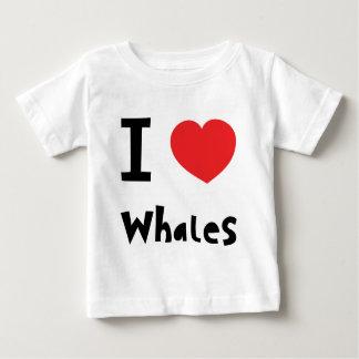 I love whales tee shirt