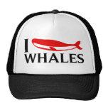 I Love Whales Trucker Hat