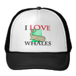 I Love Whales Trucker Hats