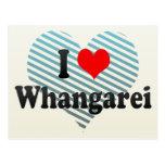 I Love Whangarei, New Zealand Postcard