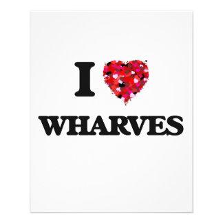 "I love Wharves 4.5"" X 5.6"" Flyer"